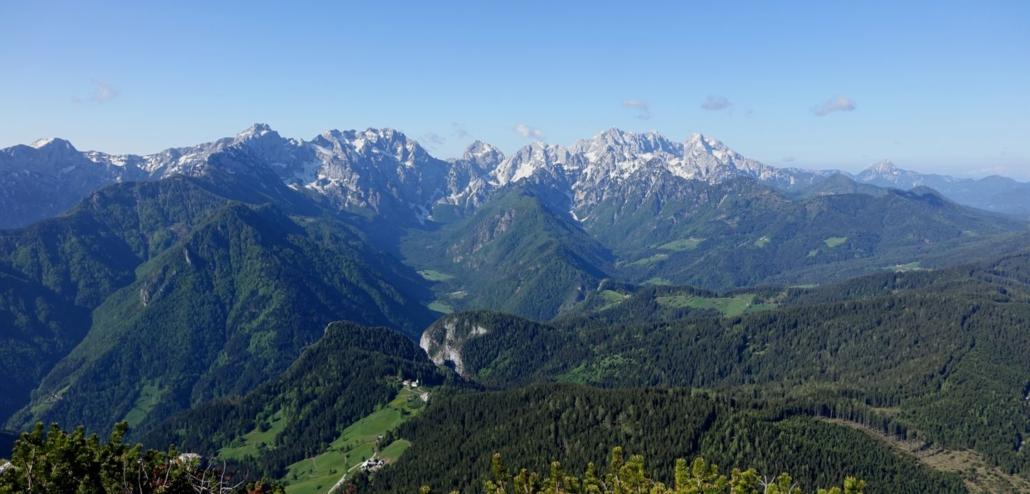 Explore_Slovenia, Panorama view of Kamnik-Savinja Alps