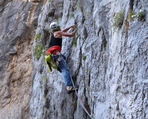 Rock climbing in Slovenia