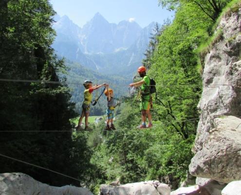 Via ferrata climbing and hiking in Slovenia