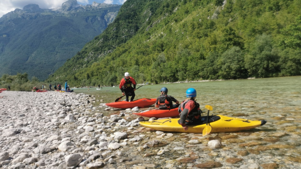 Explore Slovenia, Canoeing on the Sochi River
