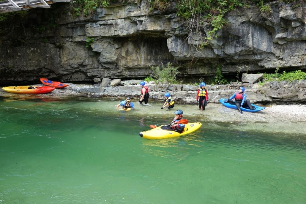 Bellyak challenge in Savinja River wit Explore Slovenia