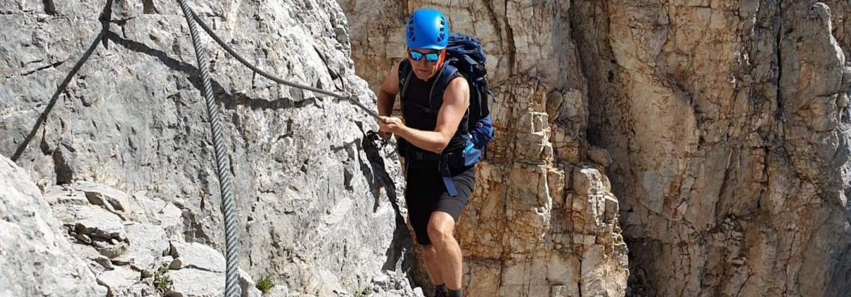 Via ferrata climbing in Slovenia. Go between the walls of the Slovenian mountains and follow your vertical limits!