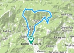 Mountain biking tour from Ljubno ob Savinji to Smrekovec and Komen mountains