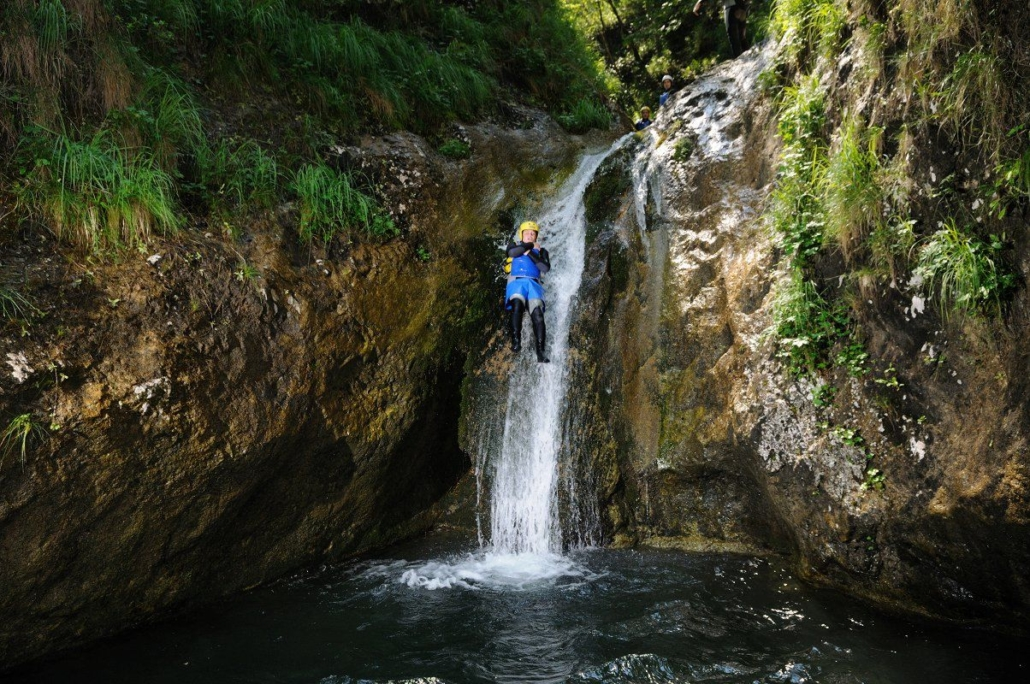 Explore Slovenia Canyoning in the picturesque Pršjak canyon with Maya