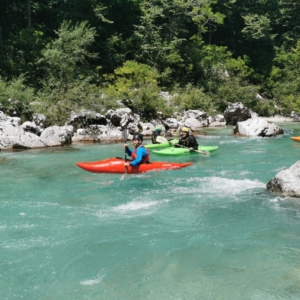 Explore Slovenia-Easy classic kayaking in the Soča River