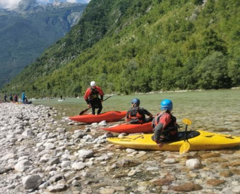 Kayak sit-on-top adventure in the Soča