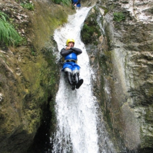 Adrenaline canyoning tour in Tolmin